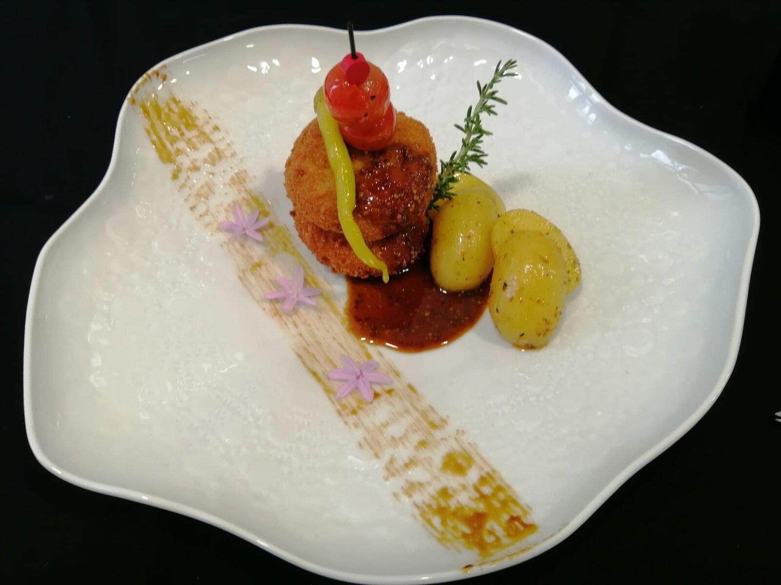 ARAI-Chivifrito con salsa de mostaza y miel
