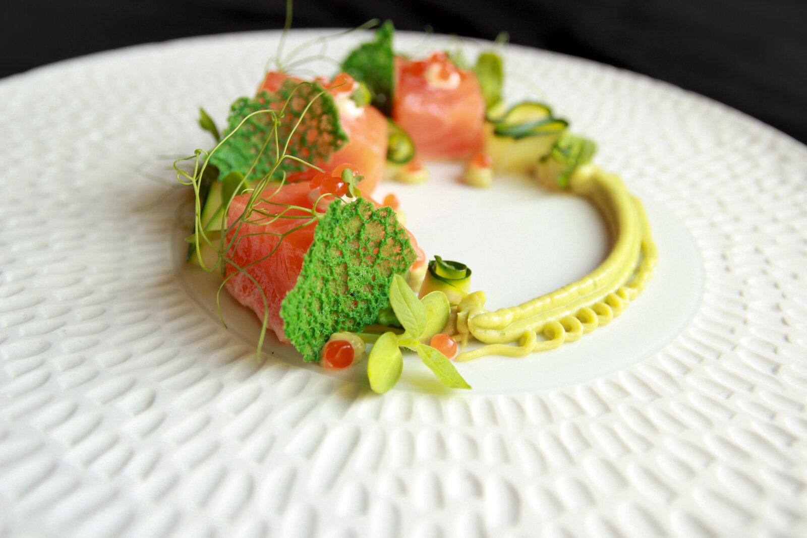 Salmon y 7 Verdes-Aire Gastrobar